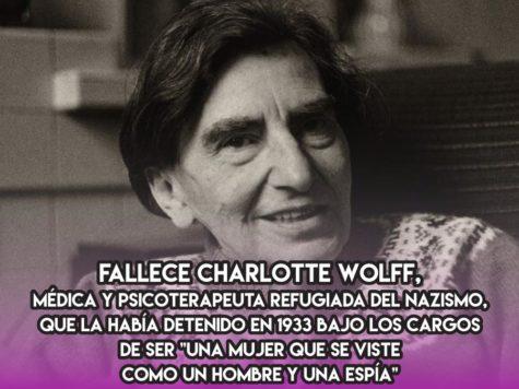 """Charlotte Wolff, """"una mujer que se viste como un hombre"""""""