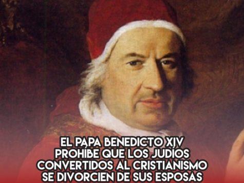 El Papa Benedicto XIV y el divorcio