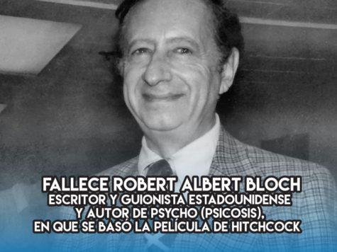 """Robert Albert Bloch y """"Psicosis"""""""