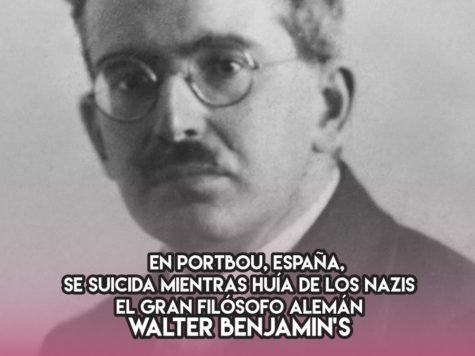 El suicidio de Walter Benjamin