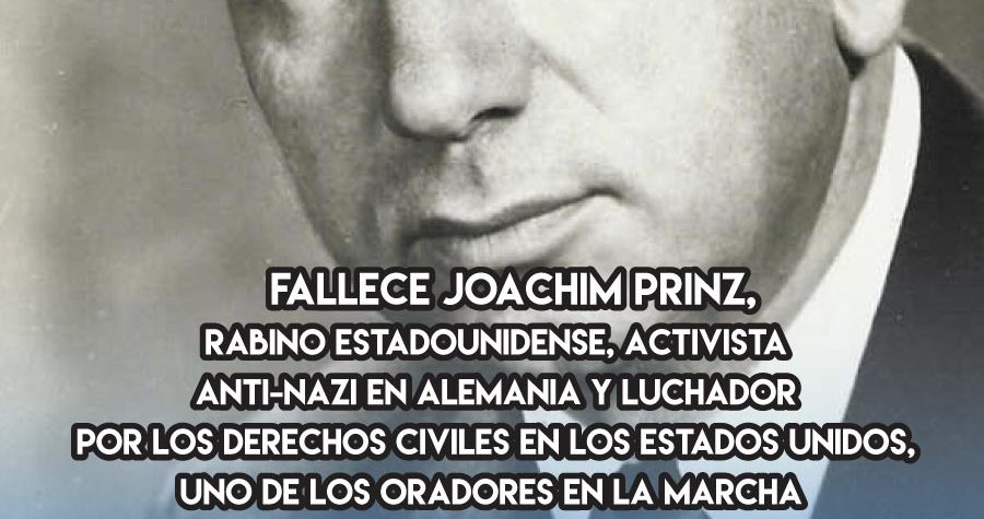 Joachim Prinz y Martin Luther King