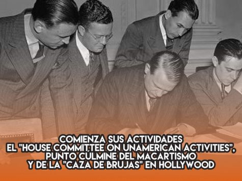 Macartismo y caza de brujas en Hollywood
