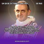 Nostra Aetate: la Iglesia y los no cristianos