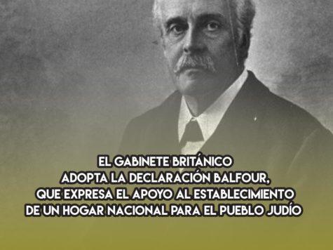 La Declaración Balfour: 31 de Octubre