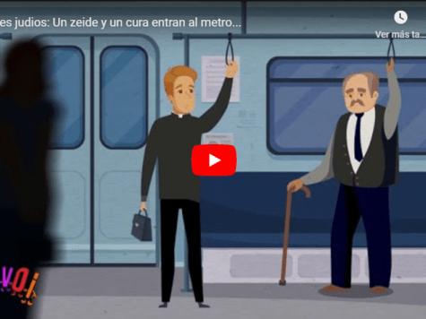Un zeide y un cura entran al metro...