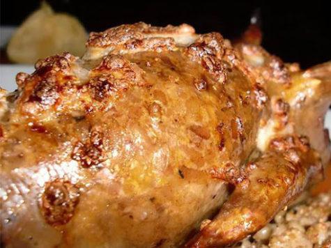 Pollo relleno de carmel (ferik)