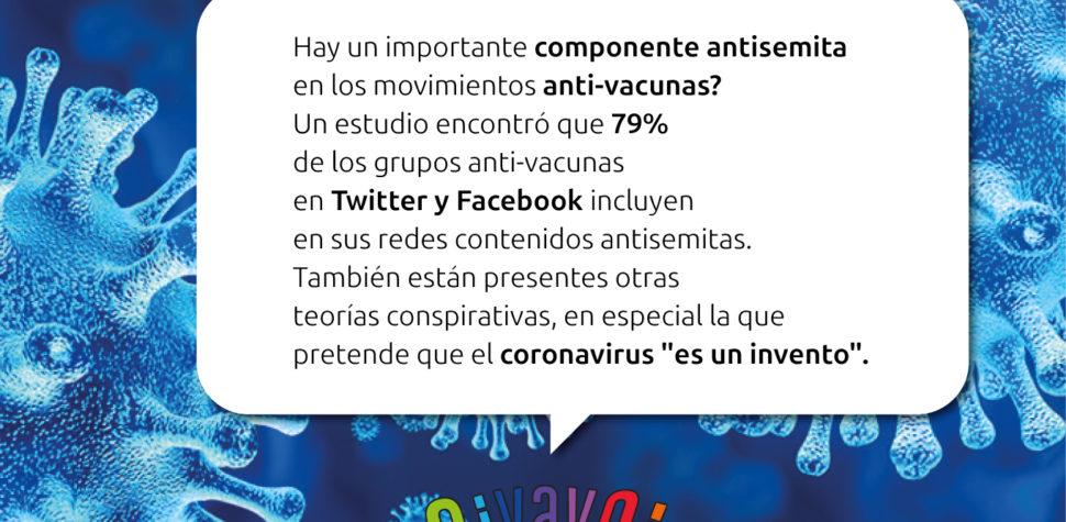 ¿Sabías que hay un importante componente antisemita en los movimientos anti-vacunas?