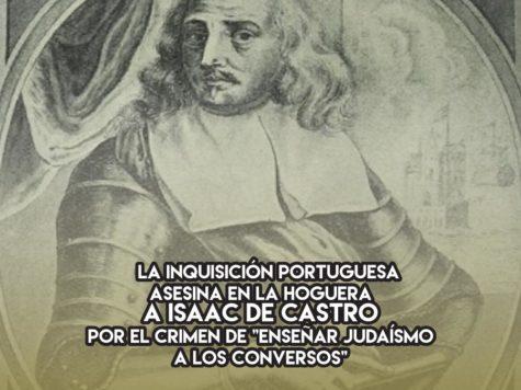 Isaac de Castro, víctima de la Inquisición en Brasil