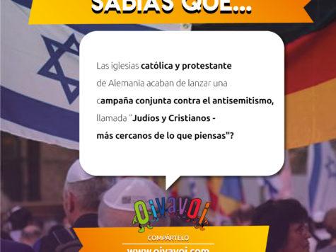 ¿Sabías que las iglesias católica y protestante de Alemania acaban de lanzar una campaña conjunta contra el antisemitismo?
