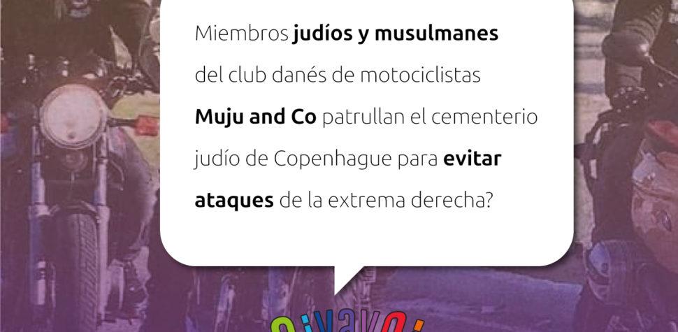 ¿Sabías que motoqueros judíos y musulmanes patrullan el cementerio judío de Copenhague para evitar ataques de la extrema derecha?