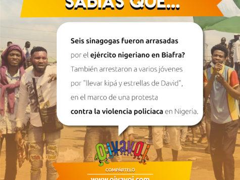 ¿Sabías que seis sinagogas fueron arrasadas por el ejército nigeriano en Biafra?