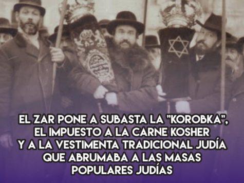 Korobka, el impuesto zarista a la vida judía