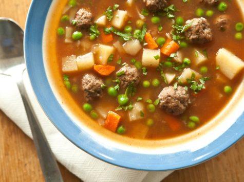 Sopa de Kofta: sopa de carne con albóndigas