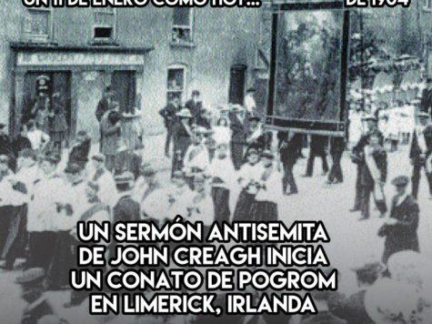 Intento de pogrom en Irlanda: 11 de enero
