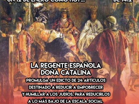 Los Decretos antisemitas de Doña Catalina