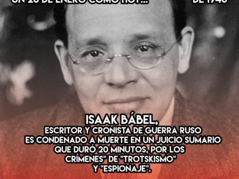 Isaac Babel, condenado a muerte en 20 minutos