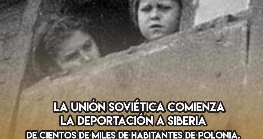La URSS y las deportaciones a Siberia