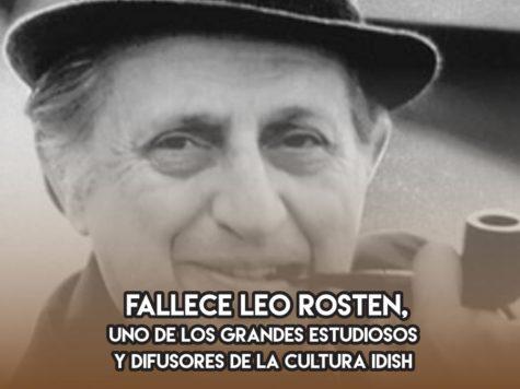 Leo Rosten, difusor del idish