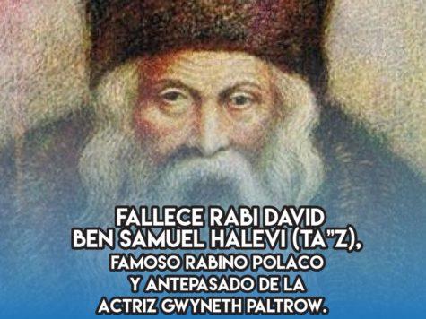 "TA""Z, rabino famoso y antepasado de Gwyneth Paltrow"