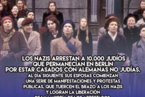 Las mujeres de la Rosenstrasse tuercen el brazo a los nazis