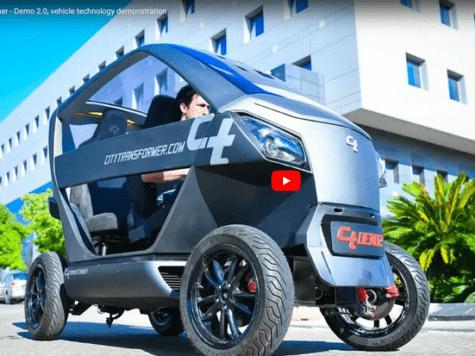 El increíble coche israelí que se achica para estacionar