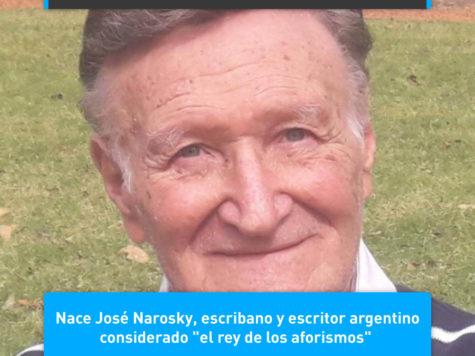 """José Narosky, """"el rey de los aforismos"""""""