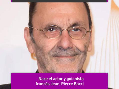 Jean-Pierre Bacri: 24 de junio