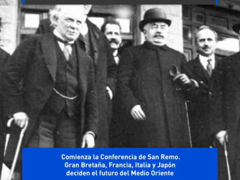 Conferencia de San Remo: se decide el futuro de Medio Oriente