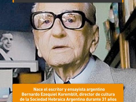 Bernardo Ezequiel Koremblit: 28 de mayo
