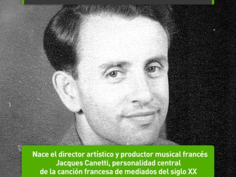 Jacques Canetti: 30 de mayo