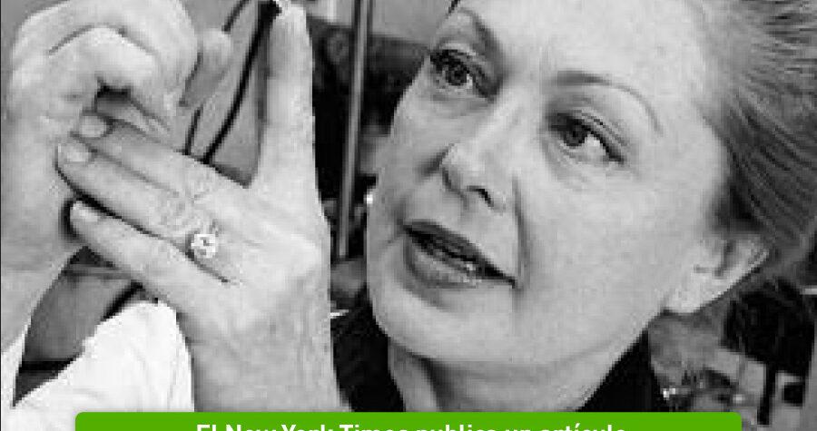Mathilde Krim, pionera del estudio del SIDA