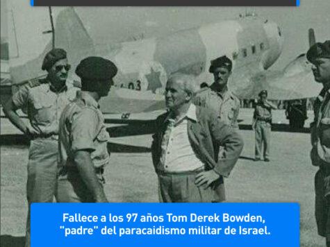 Tom Bowden, padre del paracaidismo militar de Israel
