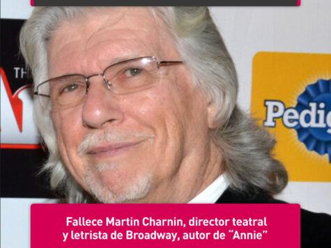 """Martin Charnin, autor de """"Annie"""""""
