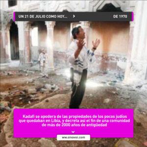 Kadafi y la limpieza étnica de los judíos de Libia