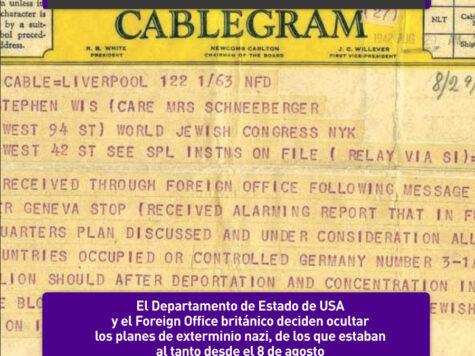El Departamento de Estado y el Foreign Office ocultan los planes de exterminio nazi