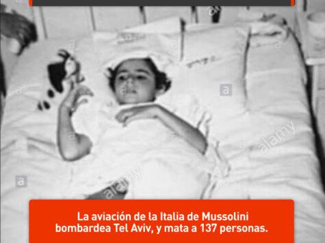 Italia bombardea Tel Aviv