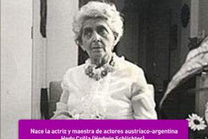 Hedy Crilla , maestra de actores