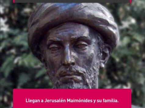Maimónides llega a Jerusalem