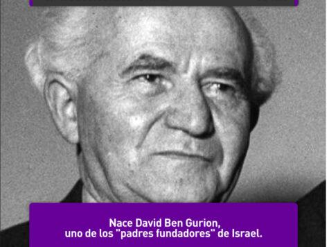 "David Ben Gurion, ""padre fundador"" de Israel"